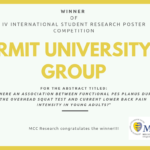 Winner of the IV International Student Research Poster Competition