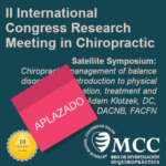 "Pospuesto el Satellite Symposium ""Chiropractic management of balance disorders. An introduction to physical examination, treatment and rehabilitation"""